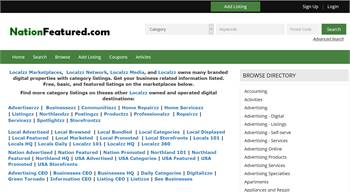 NationFeatured.com - National to local business related information listings.