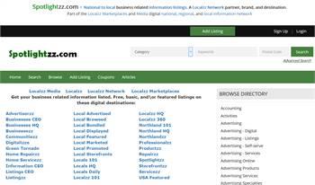 Spotlightzz.com - National to local business related information listings.